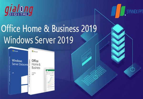 Office Home & Business 2019 và Windows Server 2019